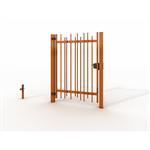 single swing gates allix