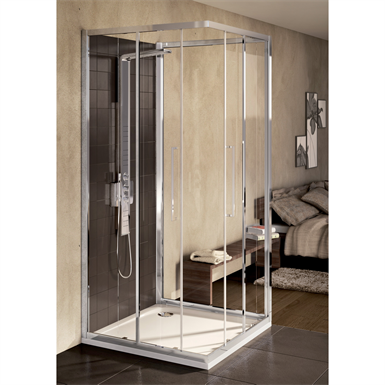 kubo paroi de douche 90 cm verre transparent