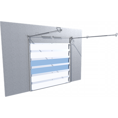 porte industrielle liné'r avec mixage levée normale et levée haute