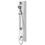 f5l mix shower panel made of miranit with hand shower fitting f5lm2028
