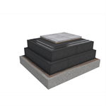 Base KL 2-layer compact roof system for paving slabs on concrete insulated with cellular glass
