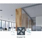 acoustic & esthetic prégymétal ceiling - createx crystal- siniat