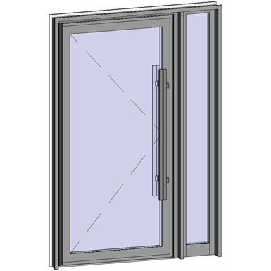 Grand Trafic Doors - Anti Finger Pinch version - Single outward opening with right fixed
