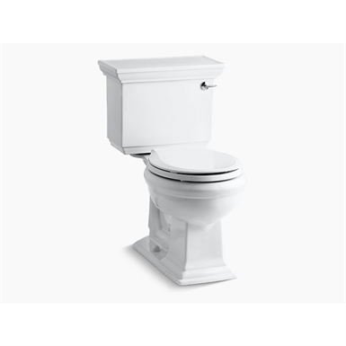 memoirs® stately comfort height® two-piece round-front 1.28 gpf toilet with aquapiston® flush technology and right-hand trip lever, seat not included