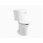 kingston™ comfort height® two-piece elongated 1.28 gpf chair height toilet with right-hand trip lever, tank cover locks and antimicrobial finish