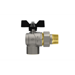 Progress F- Union Pipe right angle ball valve with butterfly handle