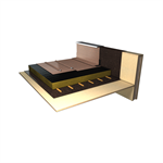 waterproofing system for pitched roofs with imitation standing seam