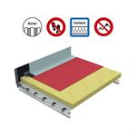 Systèmes pour toiture innaccessibles autoprotégée avec isolation sur support bac perforé