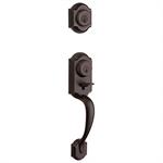Kwikset Montara Single Cylinder Handleset w/Juno Knob featuring SmartKey in Venetian Bronze