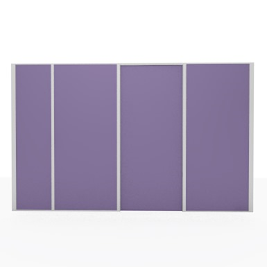 aluminum partition -  opaque door unit