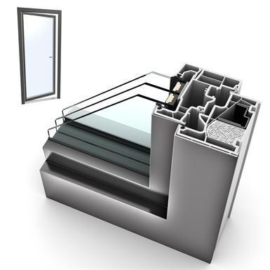 Fenstertuer einteilig PVC-ALU Internorm KF410 1T