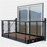 Balcony with Orkla glass railing