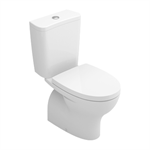 POP close-coupled toilet w/ horizontal outlet - floor-standing