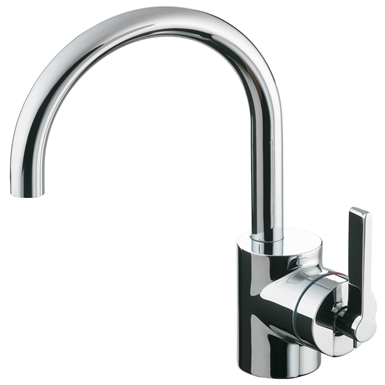 silver basin mixer 1 hole single lever pop-up waste