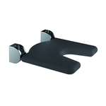 Inox Care Lift-up shower seat 450x450 hygienic seat, black