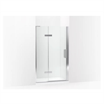 """composed® frameless pivot shower door, 73"""" h x 45 - 46-3/8"""" w, with 3/8"""" thick crystal clear glass"""