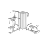 G1026 - Exercise Apparatus, Weight Training, Multi-Station