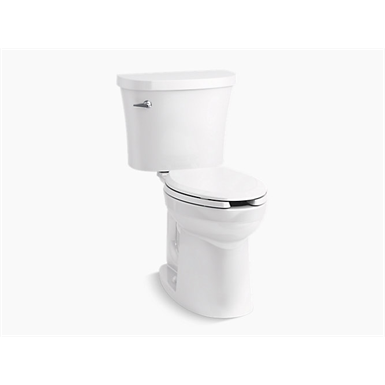 Kingston™ Comfort Height® Two-piece elongated 1.28 gpf chair height toilet
