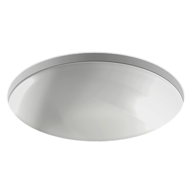 vox - round undermount vanity basin ø48.2 cm, with overflow hole