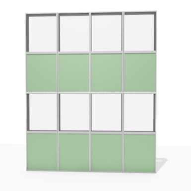 façade aluminium simple peau cadre - 50% à 75% transparent