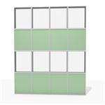 aluminum facade frame - 50 % to 75 % transparent
