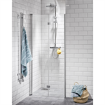 Lusso Shower walls, straight folding doors 90