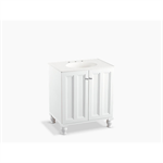 """damask® 30"""" bathroom vanity cabinet with furniture legs and 2 doors"""