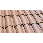 Barrel Roof Tile 40x15 Camel