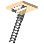 "Super Simplex Disappearing Stairway For Ceiling Height Of  9' 10"" - 12' 0"" w/ Standard Box Frame"
