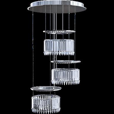 Lady Crinoline chandelier Comete LED 3 modules