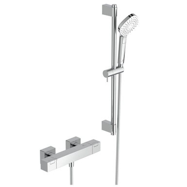 ceratherm c100 shower mixer exposed & shower system 600mm