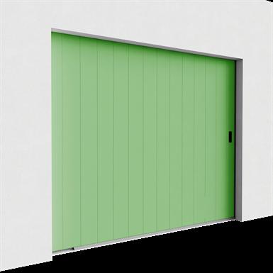 garage door - veined wood one groove side sliding