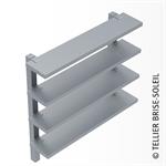 brise-soleil par fourchettes speed-fix pose verticale et lames debout - gamme recti'ligne