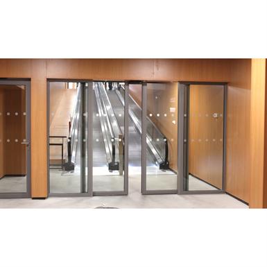 aluminium automatic double sliding door