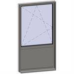 vertical strip windows - 2 zones
