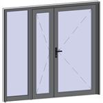 grand trafic doors - double outward opening with left fixed