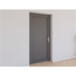 single entrance door aluminium