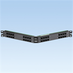 32-Port Angled Patch Panel with 32 RJ45 Ports Wired to Four 68 Pin SCSI Connectors