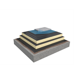 Base KL 2-layer compact roof system for concrete on concrete insulated with PIR