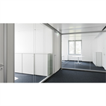 lindner life hybrid 622 | fully glazed partition with double glazing