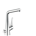 M714-H320 Single lever kitchen mixer with device shut-off valve 73815000