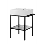 Temisto countertop washbasin with a bathroom console- 50 x 50 cm