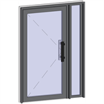 grand trafic doors - single outward opening with right fixed