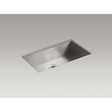 "vault™ 32"" x 18-5/16"" x 9-5/16"" under-mount large single-bowl kitchen sink with no faucet holes"