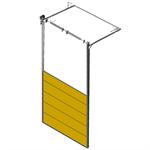 sectional overhead door 601 - high lift - 80mm panels