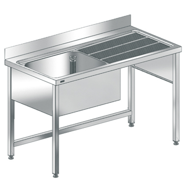 maxima commercial sink with frame maxl140-70fdw