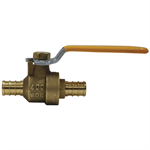 2-Piece, Full Port, Lead Free* Brass Ball Valves with PEX Ends - LFFBV-PEX