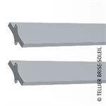 sunbreaker between wing tips horizontal, vertical and standing blades - recti'ligne range