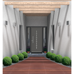 Double PVC entrance door