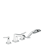 Metropol Classic 4-hole rim mounted bath mixer with lever handles 31441000